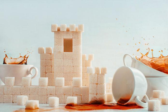 сахар в виде домика