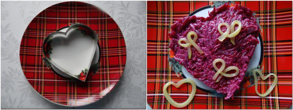 формочка сердечко на тарелке
