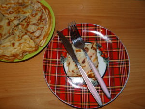 блины на тарелке