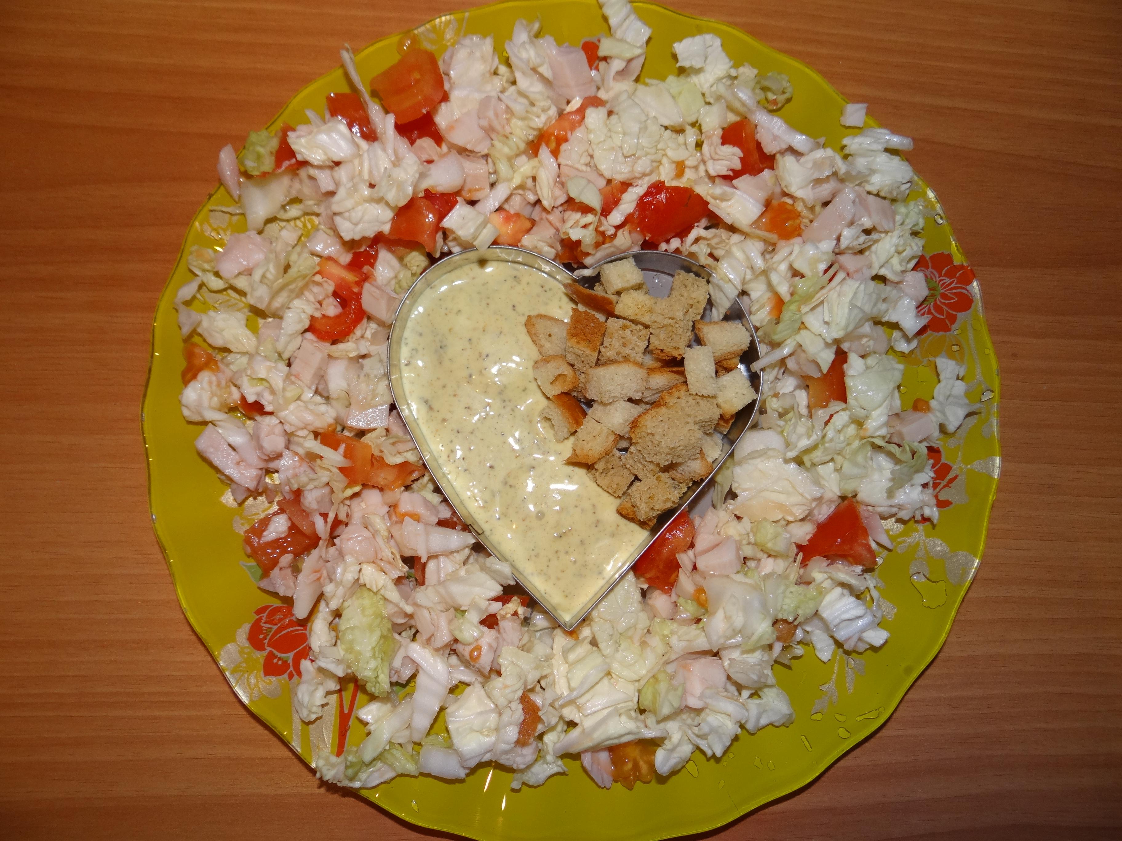 салат оформленный красиво