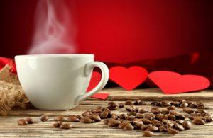 кофе и сердечки