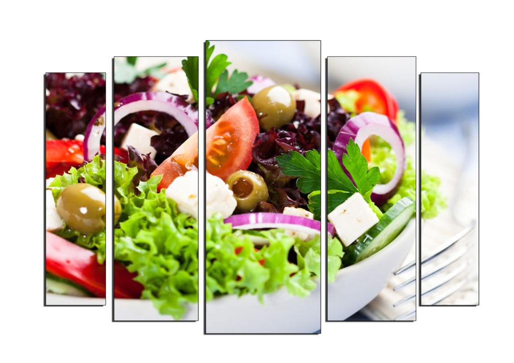 греческий салат как мозаика