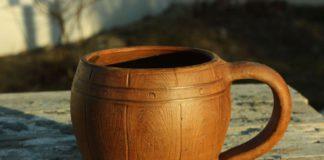 большая деревянная кружка
