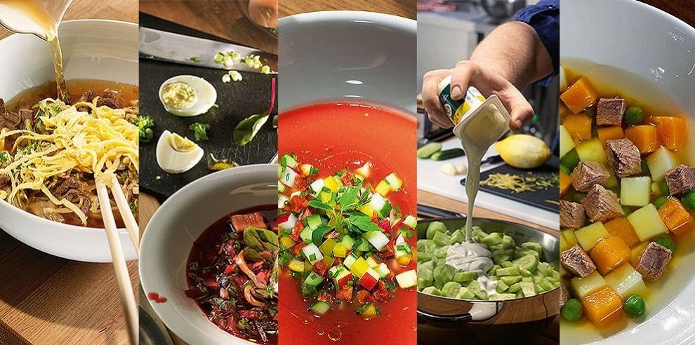 разные варианты супов
