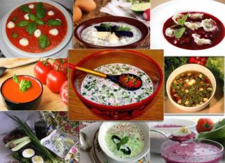разные варианты холодных супов